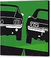 No214 My Bullitt Minimal Movie Poster Canvas Print by Chungkong Art
