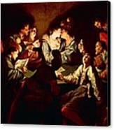 Nocturnal Concert Canvas Print by Jean  Leclerc