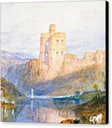 Norham Castle An Illustration To Marmion By Sir Walter Scott Canvas Print by Joseph Mallord William Turner