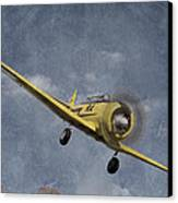 North American T6 Vintage Canvas Print by Debra and Dave Vanderlaan