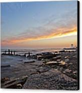 North Point Sunset Canvas Print by CJ Schmit