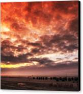 North Sea Sunset Canvas Print by Mountain Dreams