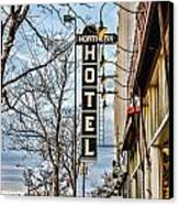 Northern Hotel Canvas Print by Baywest Imaging