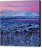 Norwegian Arctic Twilight Canvas Print by David Broome