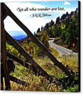 Not All Who Wander Canvas Print by Mike Flynn