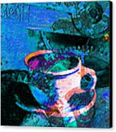 Nothing Like A Hot Cuppa Joe In The Morning To Get The Old Wheels Turning 20130718p168 Canvas Print by Wingsdomain Art and Photography