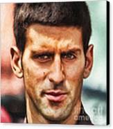 Novak Djokovic Canvas Print by Nishanth Gopinathan