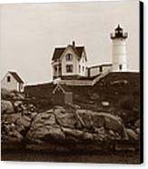 Nubble Light Canvas Print by Skip Willits