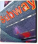 Nyc Subway Canvas Print by Linda  Parker