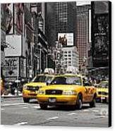 Nyc Yellow Cabs - Ck Canvas Print by Hannes Cmarits