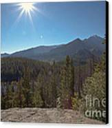 Nymph Lake And Longs Peak Canvas Print by Kay Pickens