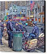 Nypd Highway Patrol Canvas Print by Ron Shoshani