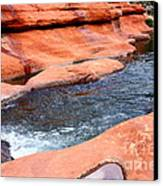 Oak Creek At Slide Rock Canvas Print by Carol Groenen