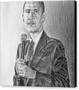 Obama 3 Canvas Print by Michael Morgan