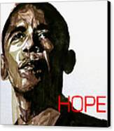 Obama Hope Canvas Print by Paul Lovering