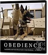 Obedience Inspirational Quote Canvas Print by Stocktrek Images