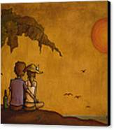 Obvious Romance Canvas Print by Bryan Ubaghs