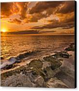 Ocean And Sunset Canvas Print by Tin Lung Chao