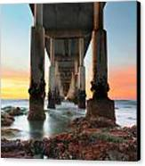 Ocean Beach California Pier 2 Canvas Print by Larry Marshall