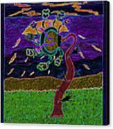 Ocean Side Flower At Sun Set    V3 Canvas Print by Kenneth James