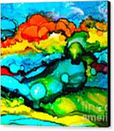 Ocean Tempest Tile Canvas Print by Alene Sirott-Cope