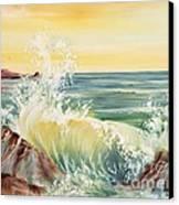 Ocean Waves II Canvas Print by Summer Celeste