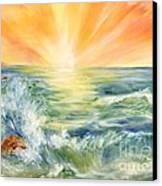 Ocean Waves IIi Canvas Print by Summer Celeste