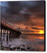 Oceanside Pier Perfect Sunset Canvas Print by Peter Tellone