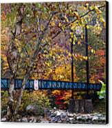 Ocoee River Bridge Canvas Print by Debra and Dave Vanderlaan