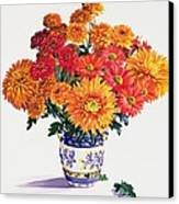 October Chrysanthemums Canvas Print by Christopher Ryland