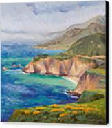 Ode To Big Sur Canvas Print by Karin  Leonard