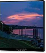 Ohio River Sunset Canvas Print by David Lester
