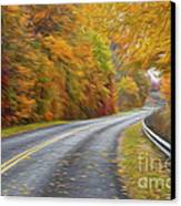 Oil Painted Country Road Canvas Print by Brian Mollenkopf