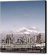 Oil Refinery Canvas Print by Olivier Le Queinec