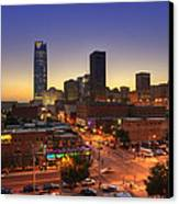 Oklahoma City Nights Canvas Print by Ricky Barnard