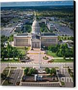 Oklahoma City State Capitol Building A Canvas Print by Cooper Ross