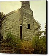 Old Abandoned Country  School Canvas Print by Ann Powell