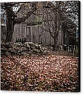 Old Barn In Autumn Canvas Print by Edward Fielding