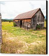 Old Barn On Highway 86 - Rustic Barn Canvas Print by Gary Heller