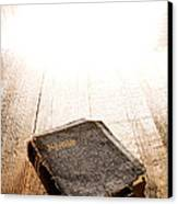 Old Bible In Divine Light Canvas Print by Olivier Le Queinec