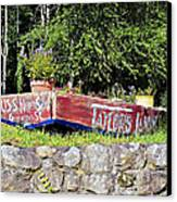Old Boat Planter Canvas Print by Susan Leggett