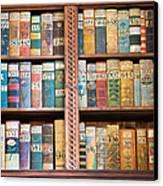 Old Books In Prague Canvas Print by Matthias Hauser