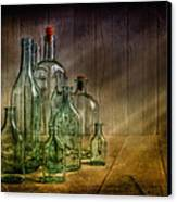 Old Bottles Canvas Print by Veikko Suikkanen