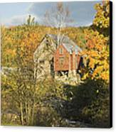 Old Buildings And Fall Colors In Vienna Maine Canvas Print by Keith Webber Jr