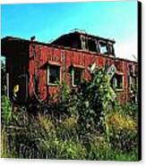 Old Caboose Canvas Print by Julie Dant
