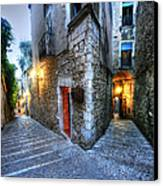 Old City Girona Canvas Print by Isaac Silman