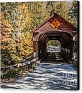 Old Covered Bridge Vermont Canvas Print by Edward Fielding