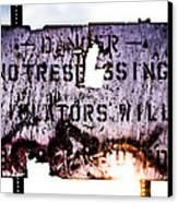 Old Danger Canvas Print by Bob Orsillo