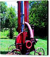 Old Farm Machinery Canvas Print by Tina M Wenger