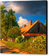 Old Farm On The Country Side Canvas Print by Sasa Prudkov